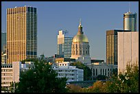 Skyline and Georgia Capitol, late afternoon. Atlanta, Georgia, USA (color)