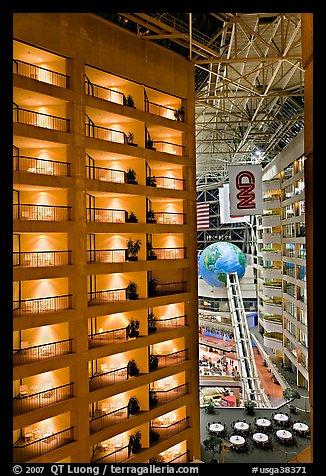 Hotel Room Balconies Inside Cnn Center Atlanta Georgia Usa
