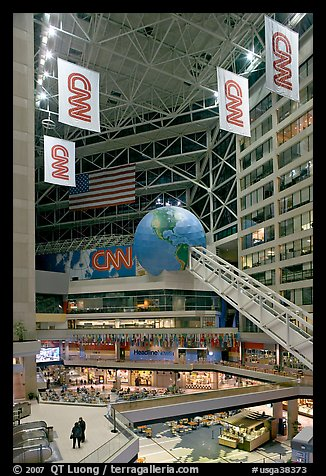 Inside CNN Center. Atlanta, Georgia, USA (color)