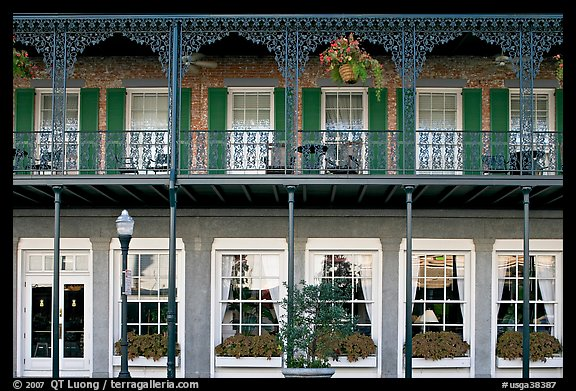Picture/Photo: Balcony with wrought-iron decor, Marshall House ...