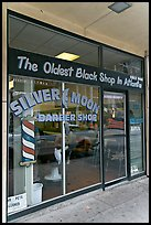 Silver Moon barber shop, oldest black shop in Atlanta. Atlanta, Georgia, USA ( color)