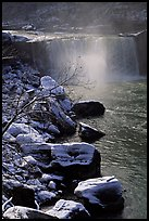 Cumberland falls in winter. Kentucky, USA (color)