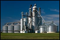 Grain elevator. Louisiana, USA