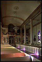 Interior of the church Saint-Martin-de-Tours, Saint Martinville. Louisiana, USA (color)