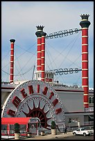 Ameristar casino riverboat. Vicksburg, Mississippi, USA (color)