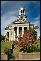 Old courthouse museum in fall. Vicksburg, Mississippi, USA (color)
