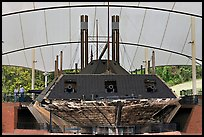 Ironclad union gunboat Cairo, Vicksburg National Military Park. Vicksburg, Mississippi, USA (color)
