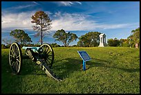 Cannon, union position marker, and monument, Vicksburg National Military Park. Vicksburg, Mississippi, USA (color)