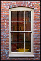 Coca Cola memorabilia seen from window. Vicksburg, Mississippi, USA (color)