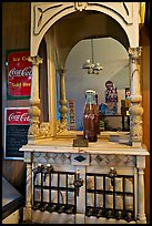 Vintage Coca Cola soda fountain. Vicksburg, Mississippi, USA (color)