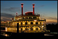 Horizon riverboat casino at dusk. Vicksburg, Mississippi, USA (color)
