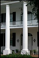 Columns on facade of Rosalie. Natchez, Mississippi, USA
