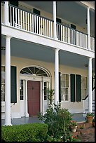 Facade of Griffith-McComas house. Natchez, Mississippi, USA