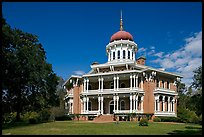 Longwood, an unfinished mansion with an octogonal shape. Natchez, Mississippi, USA ( color)