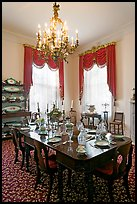 Dining room inside Rosalie house. Natchez, Mississippi, USA (color)
