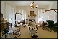 Children's room inside Rosalie. Natchez, Mississippi, USA ( color)