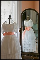 Dress and miror inside Rosalie. Natchez, Mississippi, USA (color)