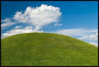 Emerald Mound, constructed between 1300 and 1600. Natchez Trace Parkway, Mississippi, USA ( color)