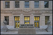 Art deco federal courthouse at dusk. Jackson, Mississippi, USA (color)