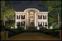 Mississippi Governor's mansion at night. Jackson, Mississippi, USA