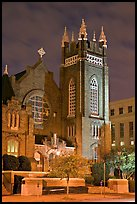St Andrew Episcopal Cathedral at night. Jackson, Mississippi, USA
