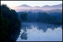 Lake along the Blue Ridge Parkway. Virginia, USA