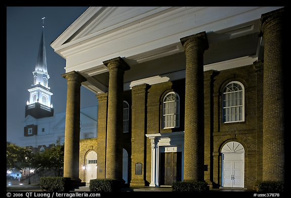 First Baptist Church, where the Confederacy was announced. Columbia, South Carolina, USA (color)