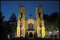 Trinity Episcopal Cathedral at night. Columbia, South Carolina, USA (color)