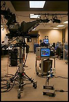 Television news studio. Columbia, South Carolina, USA (color)