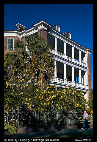 Historic antebellum mansion. Charleston, South Carolina, USA (color)