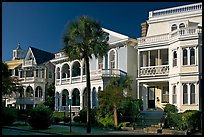 Row of Antebellum houses. Charleston, South Carolina, USA (color)