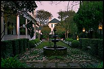 House garden at dusk. Charleston, South Carolina, USA (color)