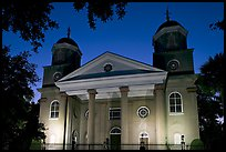 First Presbyterian Church, 1731, at twilight. Charleston, South Carolina, USA
