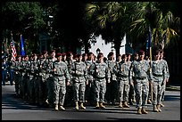 Army men marching during parade. Beaufort, South Carolina, USA ( color)
