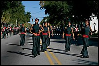 African American youngsters during parade. Beaufort, South Carolina, USA (color)