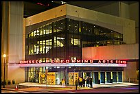 Tennessee Performing Arts Center at night. Nashville, Tennessee, USA