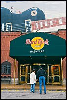 Entrance and mural, Hard Rock Cafe. Nashville, Tennessee, USA (color)