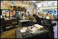 Hatch Show Print, one of the oldest poster shops in the country. Nashville, Tennessee, USA (color)