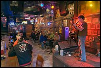 Club with live music performance. Nashville, Tennessee, USA (color)