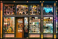 Store on Beale Street by night. Memphis, Tennessee, USA ( color)