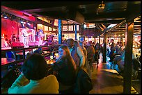 Bar with live music in Beale Street. Memphis, Tennessee, USA