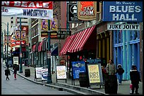 Beale street, Memphis. Memphis, Tennessee, USA (color)
