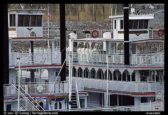 Wheelboats, Memphis. Memphis, Tennessee, USA (color)
