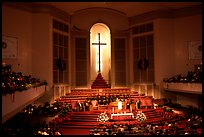 Gospel mass in Mississipi Boulevard Christian Church. Memphis, Tennessee, USA