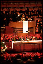 Minister preaching during in Mississipi Boulevard Christian Church. Memphis, Tennessee, USA ( color)