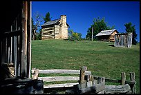 Cabins, Booker T. Washington National Monument. Virginia, USA (color)