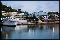 National Park Service harbor at dusk, Cruz Bay. Saint John, US Virgin Islands ( color)
