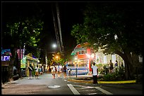 Street at night, Cruz Bay. Saint John, US Virgin Islands ( color)