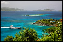 Car barge approaching harbor. Saint John, US Virgin Islands ( color)