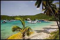 Cruz Bay yacht harbor. Saint John, US Virgin Islands ( color)